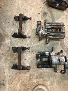mk4 vw golf front calipers  and rear calipers with bridge