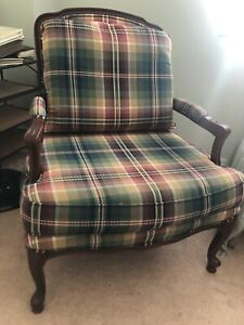 French Bergere Chair in Cherry Wood - $250