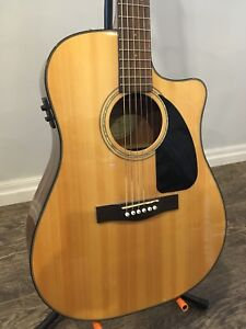 Fender Electric Acoustic with Built-In Tuner!