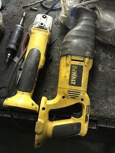 Dewalt sawsall and grinder.