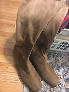 Suede Boots size 11 wide calf / Brand new