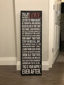 Quote on framed canvas