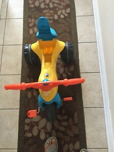 Blue-yellow toddler tricycle