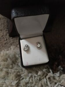 Sterling silver earrings. Worn once. 40$