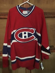 New CCM Adult XL Montreal Canadians Jersey