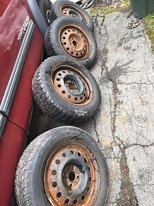 5x100 rims and winter tires $150obo