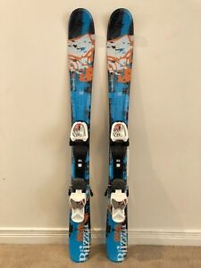 Skis for Kids Blizzard GunSmoke JR (size 99 cm) with IQ Bindings