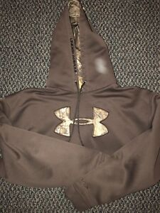 UA Hoodie. Brown in colour. Size - XL.