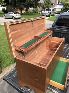 Antique cedar chest with compartments