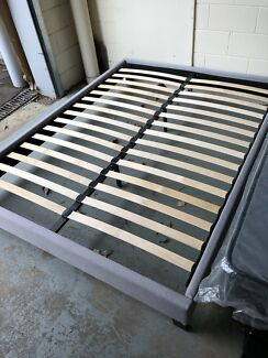 Brand new fabric bed base flat pack in box can fit in any car