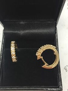 Diamond 14Kt yellow gold  earrings Regularly $999+tax
