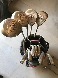 Tech Edge 300 plus golf clubs, bag and cart