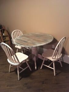 Refinished Heavily Distressed Dining Set