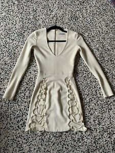 Oh Polly Cream Suede Dress Size Small