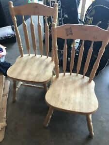 2 unfinished chairs