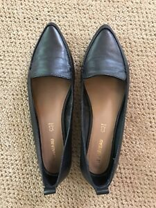 Black loafers size 10