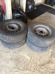 225 65 r16 winter tires & steel rims