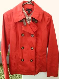Tommy Hilfiger red peacoat trench coat - xs $50 obo
