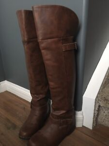 NWOT brown over the knee boots