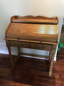 Antique roll up desk