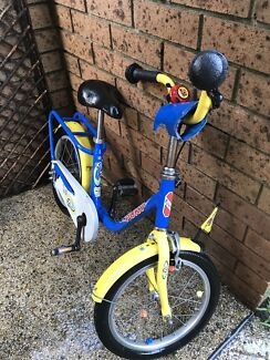 Puky Kids Bike Bicycle 4y-10yeras old with Training Wheels & Gloves.