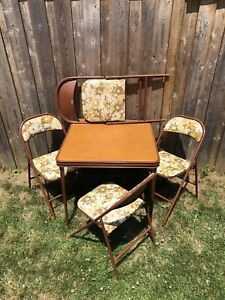 Retro Cooey Metals folding table and chair (4) set
