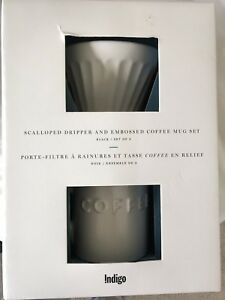 Indigo Bistro Coffee Dripper and Mug set - BNIB