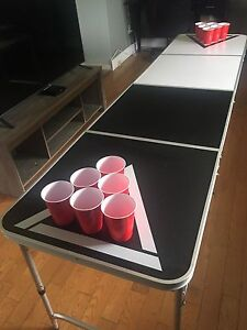 Professional style folding beer pong table