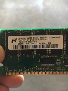 512MB DDR PC1600R 200MHZ CL2 184PIN ECC REGISTER SERVER MEMORY