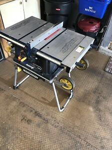 Mastercraft portable table saw