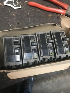 15 amp square d breakers