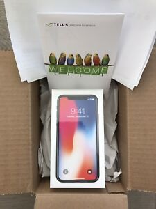 Iphone X 64GB Space Gray - Brand New Telus Plan Upgrade