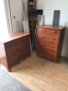 Red maple dressers