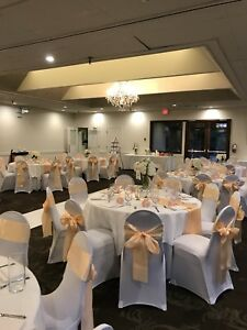 Wedding table runners and chair covers for sale