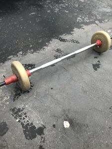 Barbell with two 10lb plates