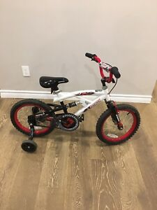 "Boys 16"" ages 6 - 10 bike with training wheels"