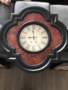 Red stained glass clock