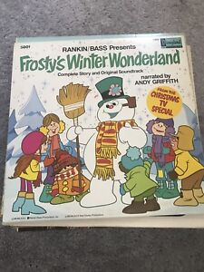 Vintage vinyl records Christmas theme