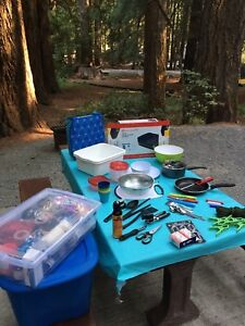 Bear spay air bed and camping accessories