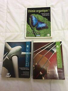 Livres/manuels physique 2, 3 chimie organique 1