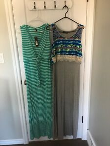 Two Summer Maternity maxi dresses