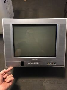 """Toshiba 14"""" Color TV (with wall mount bracket/ DVD/VHS holder)"""