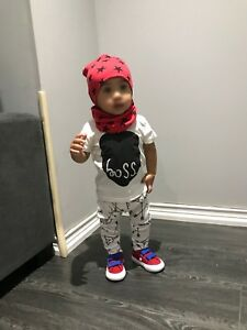 Brand New  2 piece outfit & matching hat/scarf for kids