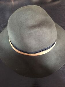 Olive Green Wool Fall Hat