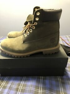 "6"" Olive Green Timberland Boots size 10"