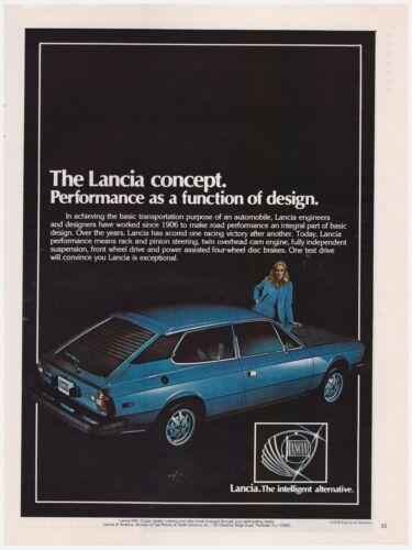 Original 1978 Lancia Car The Intelligent Alternative Vintage Print Ad