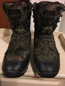 2 pairs of camo hunting boots size 10 and 11