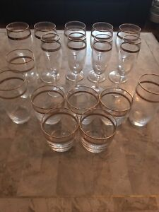 J G Durand assorted crystal glasses