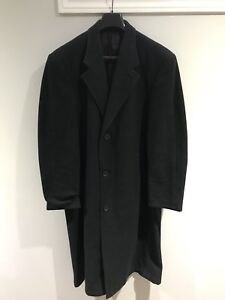 Charcoal grey wool trench coat