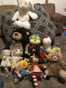 Collection of stuffed animals